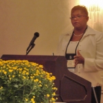 "Dinah Coleman-Mason (Jacksonville, FL) presents a session on ""Demonstrating Our Value"" at the Opening Plenary."