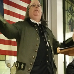 Ben Franklin entertained attendees at our Thursday evening networking event.
