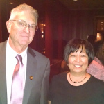 Chief Justice Michael Heavican and Ruth Cooperrider, Iowa Ombudsman