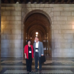 Ruth Cooperrider, Iowa Ombudsman, and Jung-gun Park, Director, Anti-Corruption and Civil Rights Commission, Seoul, Korea at the Nebraska State Capitol